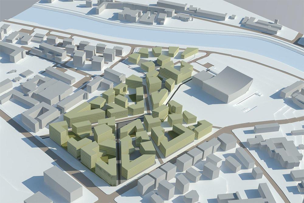 """Vietoj """"Žalgirio"""" stadiono – naujas stiklainių kompleksas"""