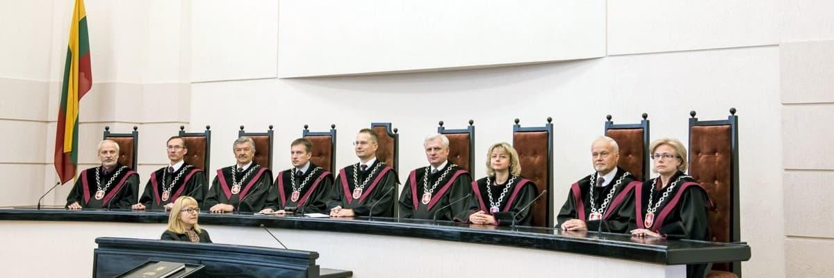 Konstitucinis Teismas pasirodo reikalauja laikytis teisinės valstybės principo iš visų, išskyrus save