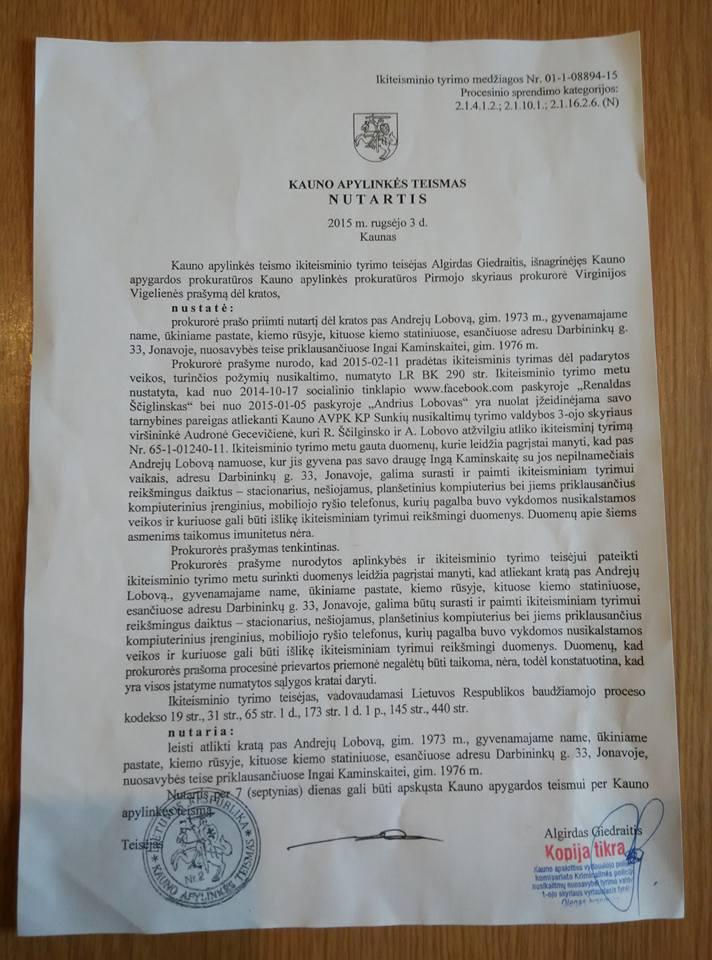 Policija persekioja Andrių Lobovą, kuris teigia, kad Deimantė Kedytė nužudyta