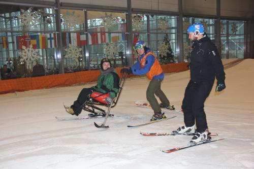 """Druskininkų """"Snow Arenoje"""" nuo šiol slidinėti gali ir neįgalieji"""