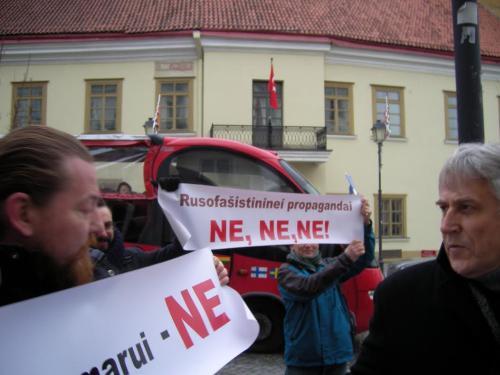 Vilniuje vyko antikarinė akcija prie Turkijos ambasados