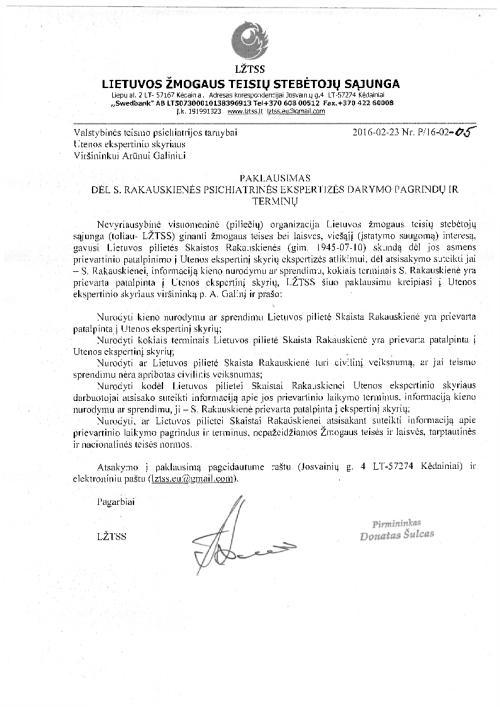 """Teisėsaugos veteranė S. Rakauskienė: ,,Mane persekioja ir kankina"""""""