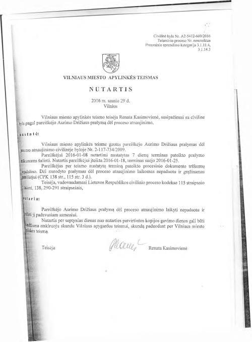 Vilniaus apylinkės teismas toliau masiškai klastoja nutartis A.Sadecko naudai