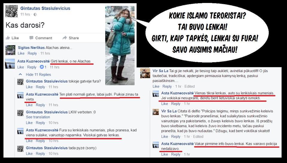 """""""Lietuvos ryto"""" žurnalistė A.Kuznecovaitė : Berlyno teroristai buvo lenkai"""