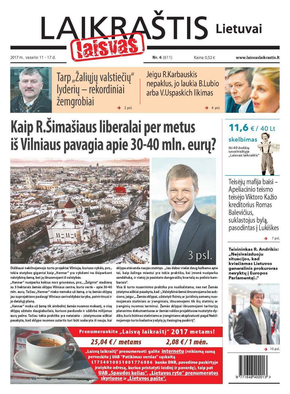 """R.Šimašius arbitražo teismą su """"Veolia"""" finansuoja privataus kapitalo fondas – jam pažadėta 26,5 mln. eurų premija"""