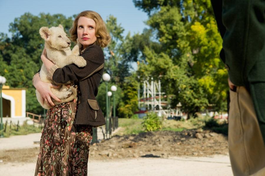 Šimtus žydų išgelbėjusią didvyrę suvaidinusi J. Chastain: dirbti su gyvūnais ir vaikais lengviau nei su suaugusiais