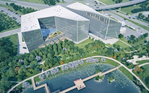 """""""Park Town"""" pirmasis BREEAM """"New Construction Excellent"""" lygio naujas verslo centras Lietuvoje"""