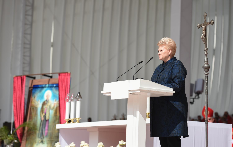 Palaimintojo Teofilijaus  šventėje D. Grybauskaitė praleido progą patylėti
