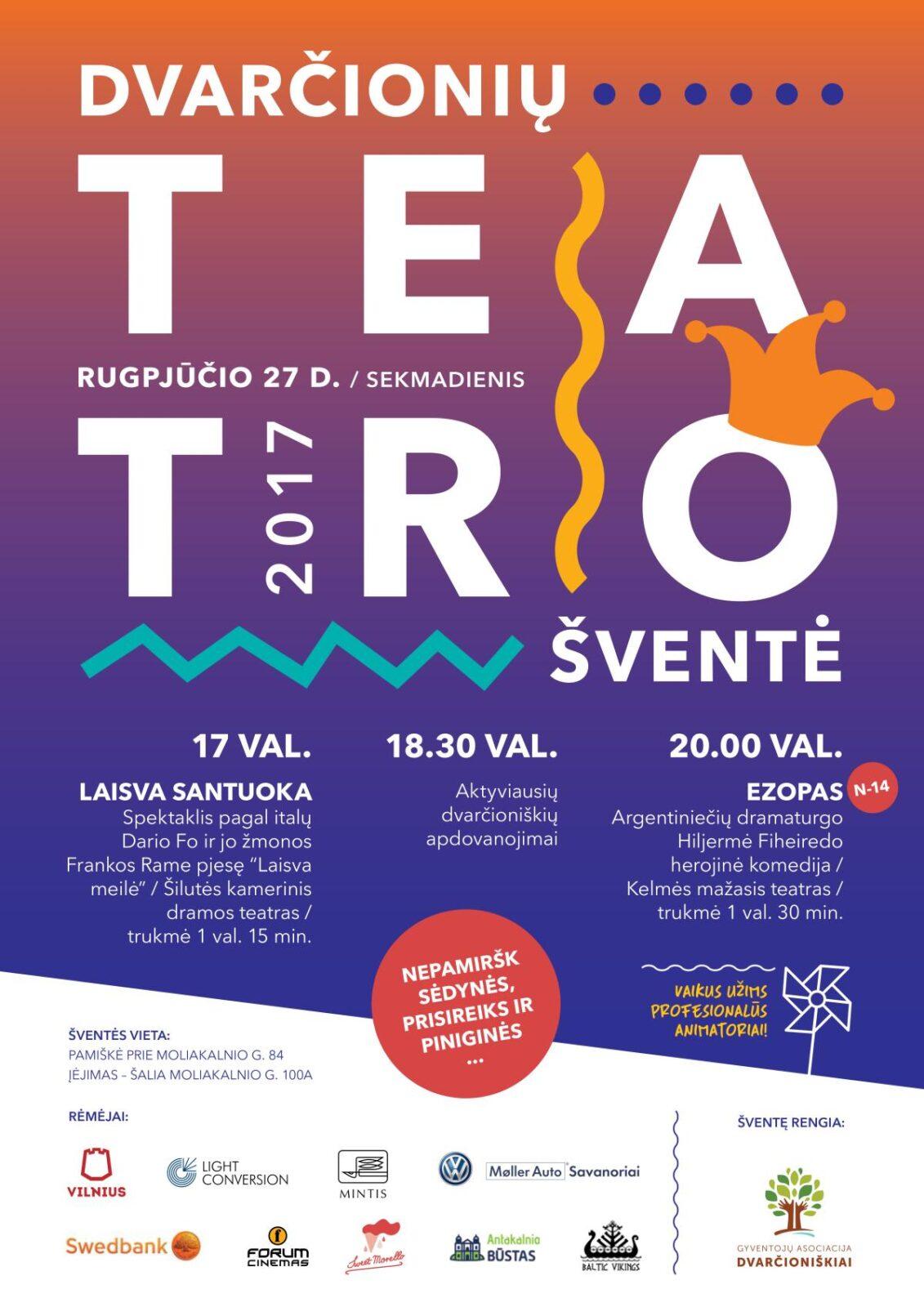 Dvarčionyse vyks teatro festivalis