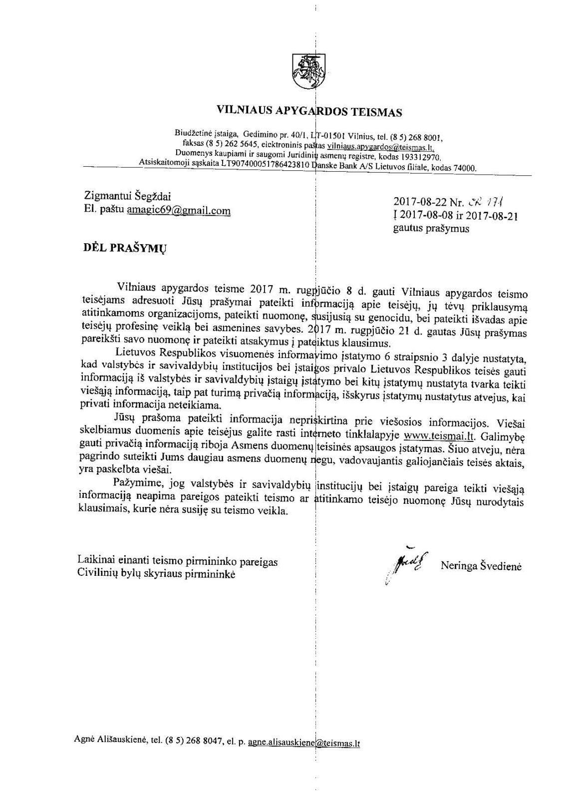 Apeliacinio teismo pirmininkas A.Valantinas ir jo aplinka, slepiantys tiesą apie veiklą SSSR struktūrose, turi trauktis iš pareigų