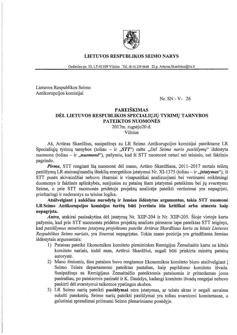 D.Grybauskaitė STT rankomis traiško A.Skardžių