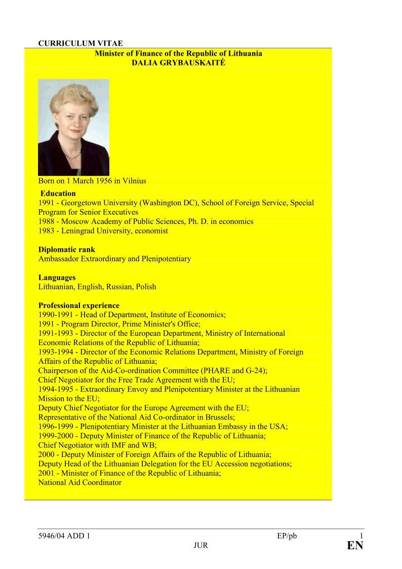 Kurios valstybės premjero programų direktore 1991 m. dirbo D.Grybauskaitė?