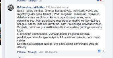 A.Širinskienė ant E.Jakelaičio užsiundė mokesčių inspekciją
