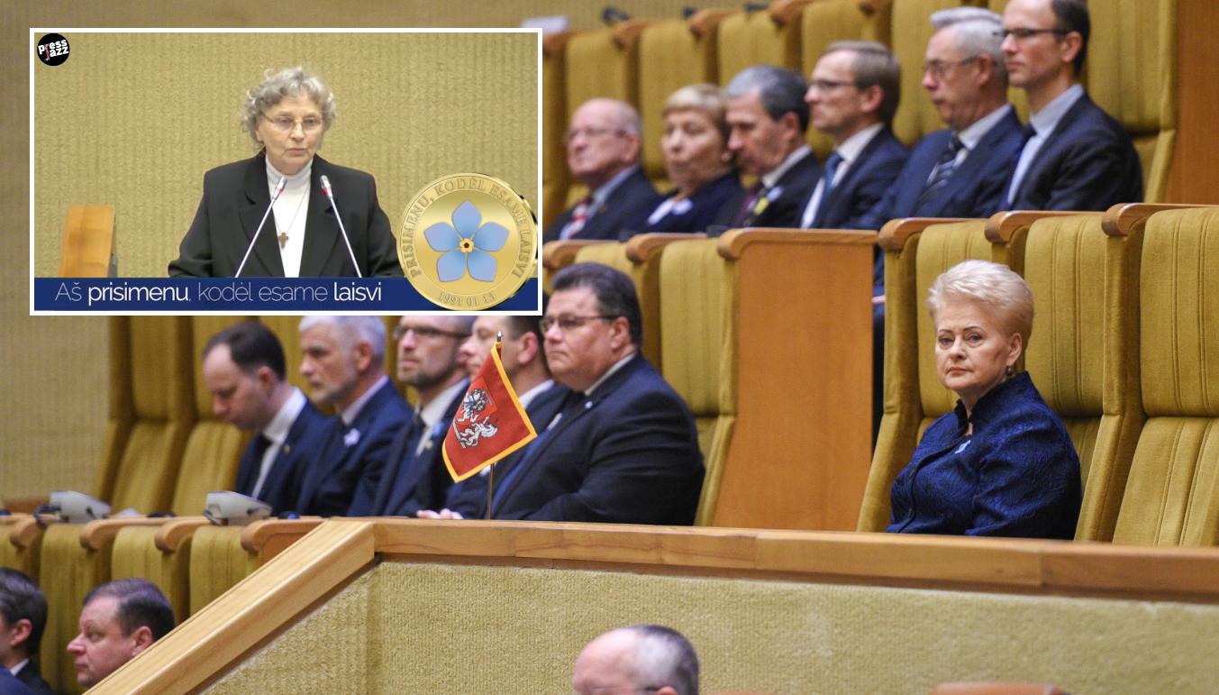 """N. Sadūnaitės iššūkis Daliai Grybauskaitei : """"Prašau pasakyti, kur yra Deimantės Kedytės kapelis"""""""
