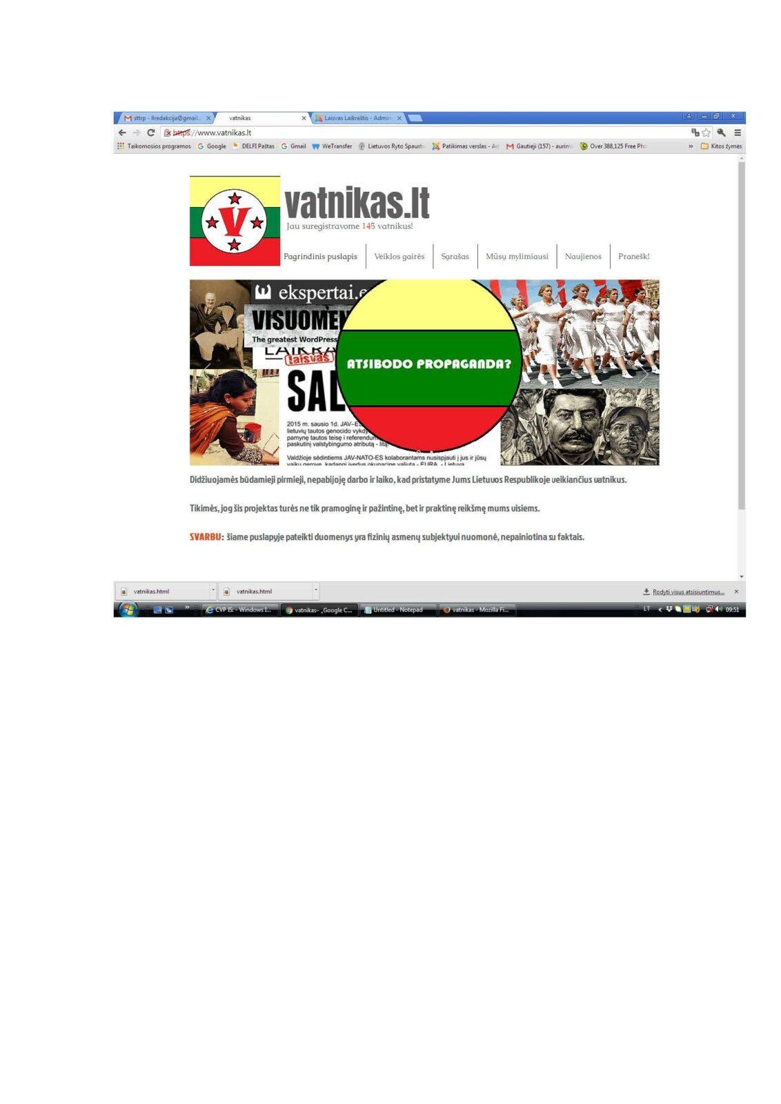 """Jau pradėti sudarinėti """"Lietuvos priešų"""" sąrašai. Tarp priešų yra ir """"Laisvas laikraštis"""" ir ekspertai.eu"""