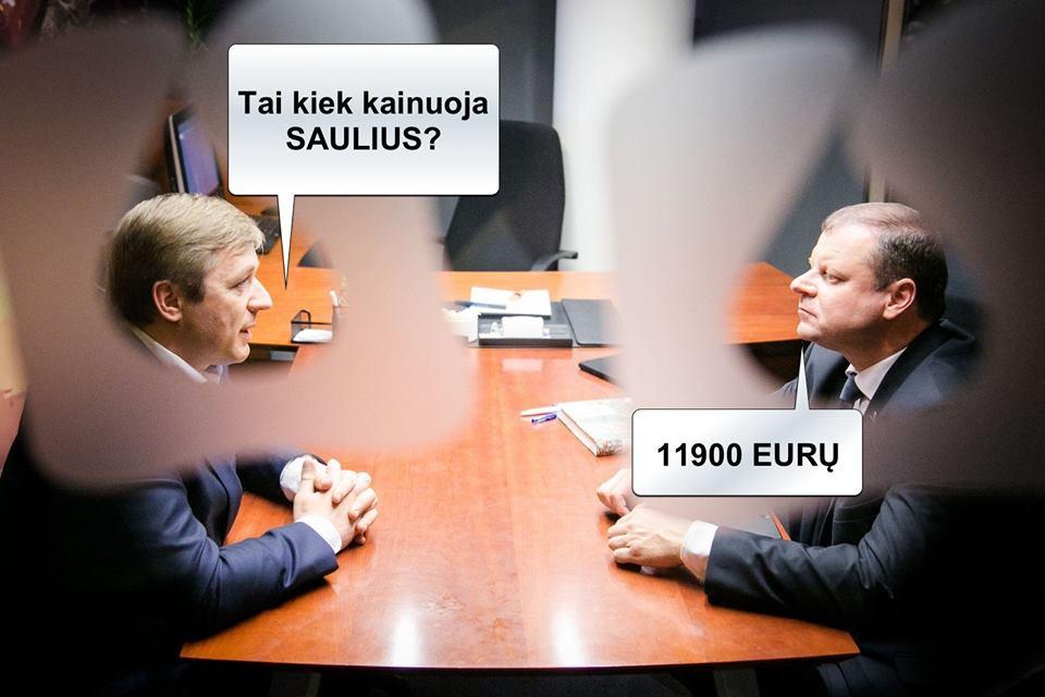 – Kiek kainuoji, Sauliau?