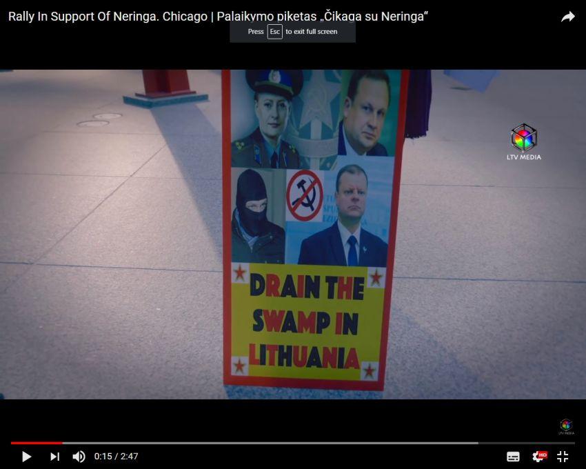 Prie Čikagos teismo įvyko Neringos Venckienės palaikymo akcija