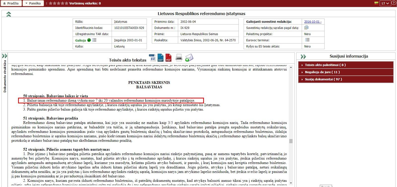 Lietuva įstojo į ES pažeisdama visus savo įstatymus