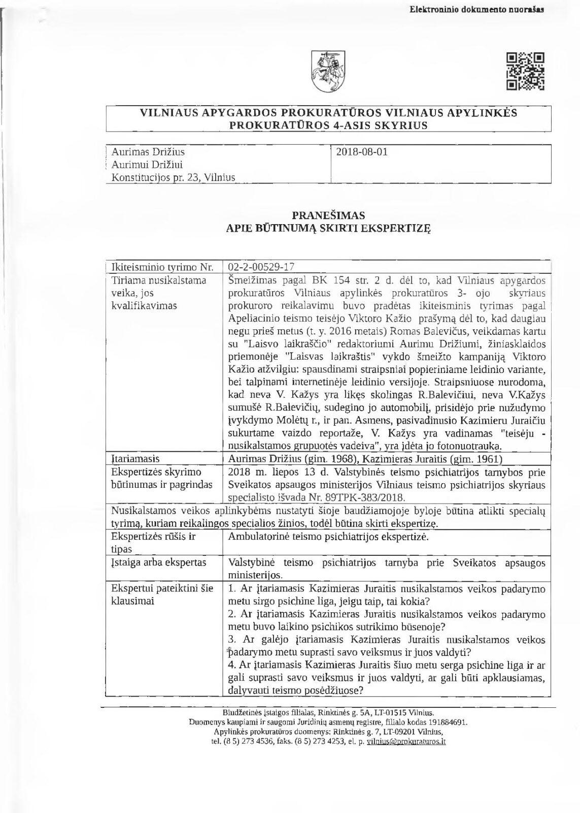 """Už reportažą apie korupciją teismuose žurnalistas Kazimieras Juraitis grūdamas į """"psichūškę"""""""