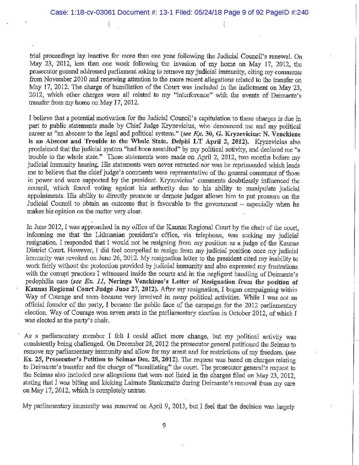 N.Venckienė Čikagos teisme papasakojo apie Dalios  Grybauskaitės vaidmenį pedofilijos byloje