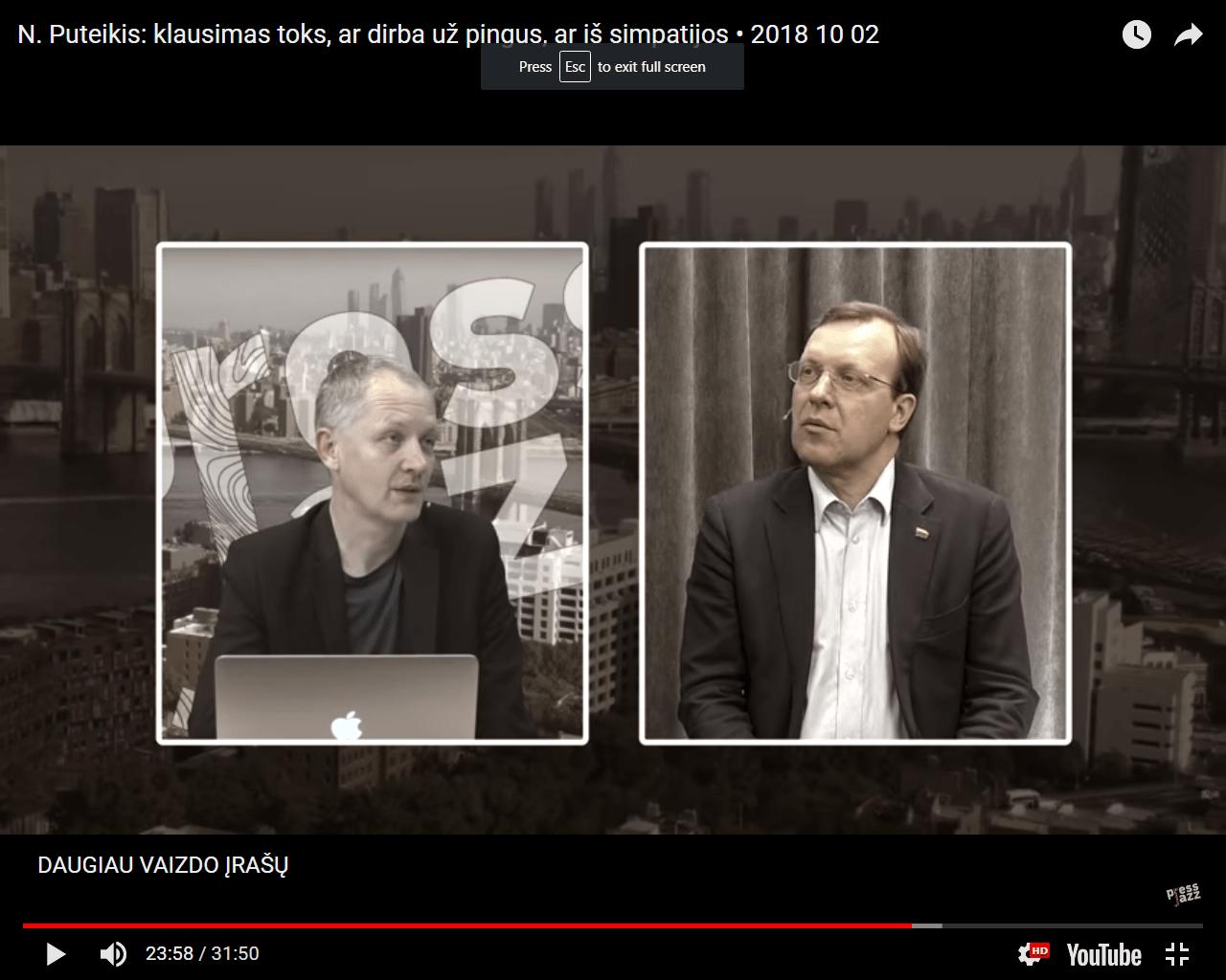 """Naglis Puteikis : 'Lietuvos elitas yra didžiausia šalies bėda"""""""
