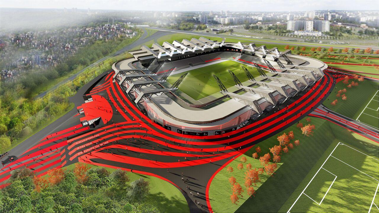 R.Šimašiaus pranešimą apie baigtas derybas dėl Nacionalinio futbolo stadiono Vilniuje jau paneigė konkurso dalyviai
