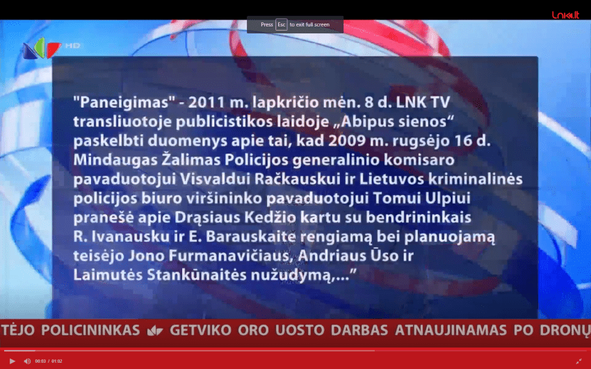 Teismas paneigė Mindaugo Žalimo melą V.Gaivenio laidose, tačiau jo melo auka R.Ivanauskas vis dar laikomas kalėjime (pildoma)