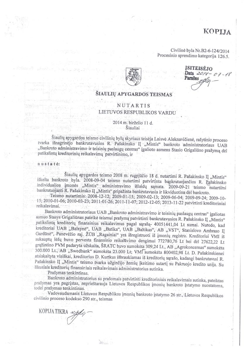 40 mln. litų skolingas Rimantas Pašakinskas – kandidatas į Europos parlamentą