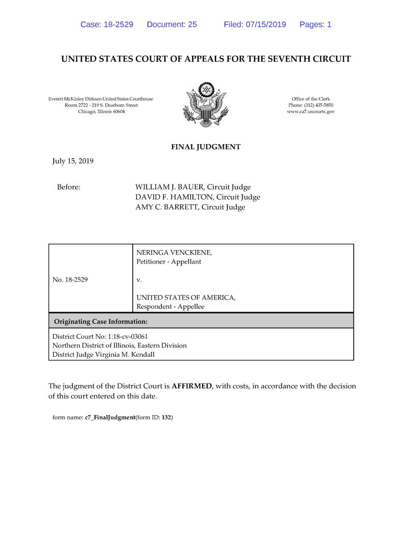 JAV Apeliacinio teismo sprendimas išduoti Neringą Venckienę Lietuvai