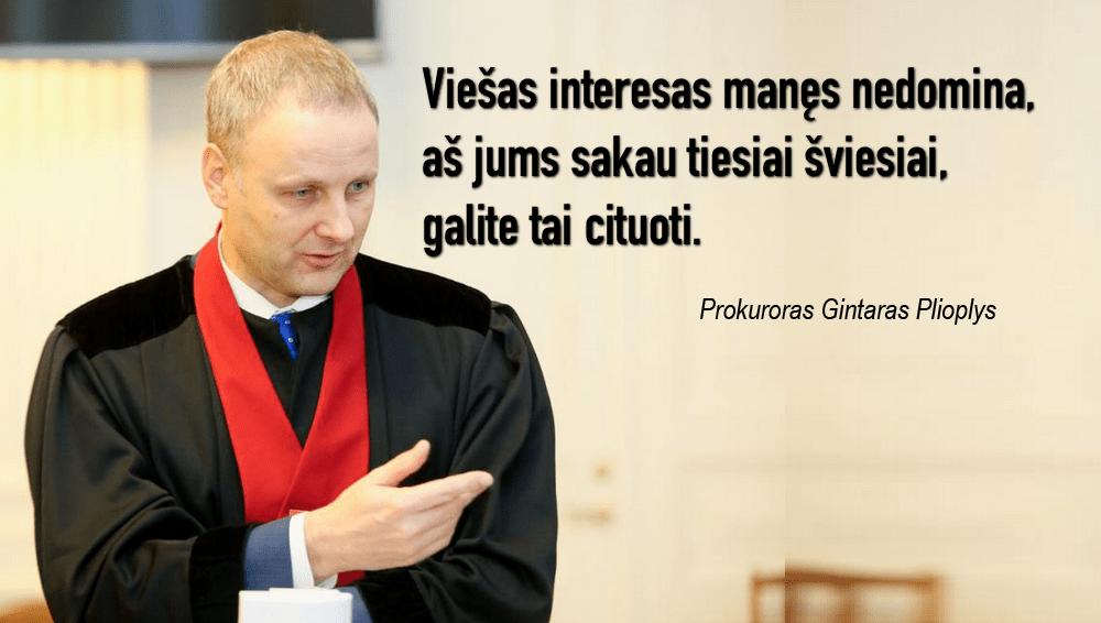 Prokuratūra : teisėjams galima daryti sunkius nusikaltimus, tai legalu
