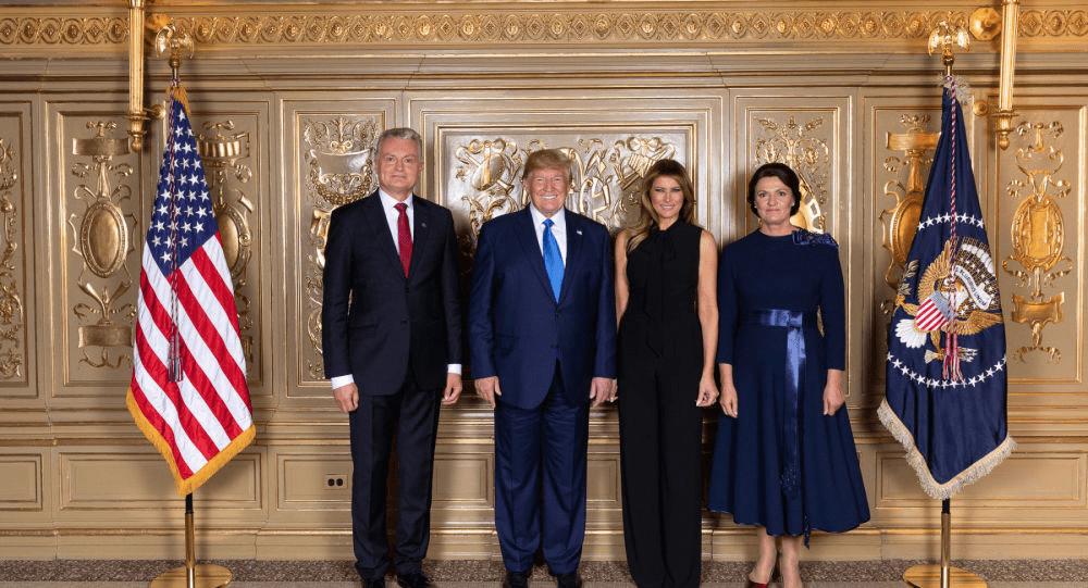 Bankininkas G.Nausėda išsityčiojo iš JAV prezidento D.Trampo, kuris atsiuntė kariuomenę Lietuvai apsaugoti