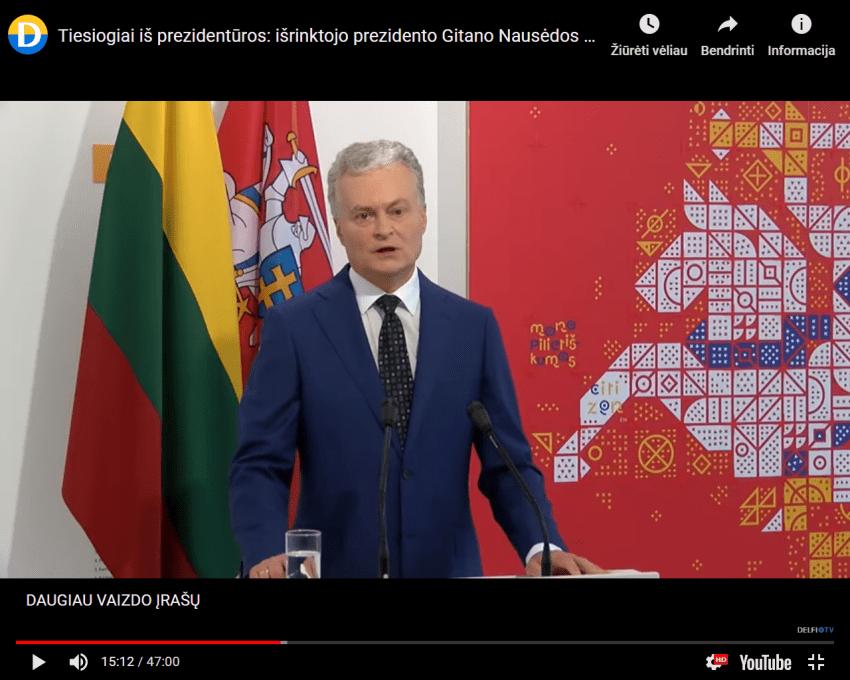 """Prezidentūra nusprendė, kad valdžios ir banditiškos prokuratūros kritika yra """"nepagarba Lietuvos valstybei"""""""