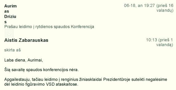 """Teismas : prašymas uždrausti G.Nausėdos  prezidentūrai persekioti laisvą spaudą yra """"pernelyg abstraktus"""""""