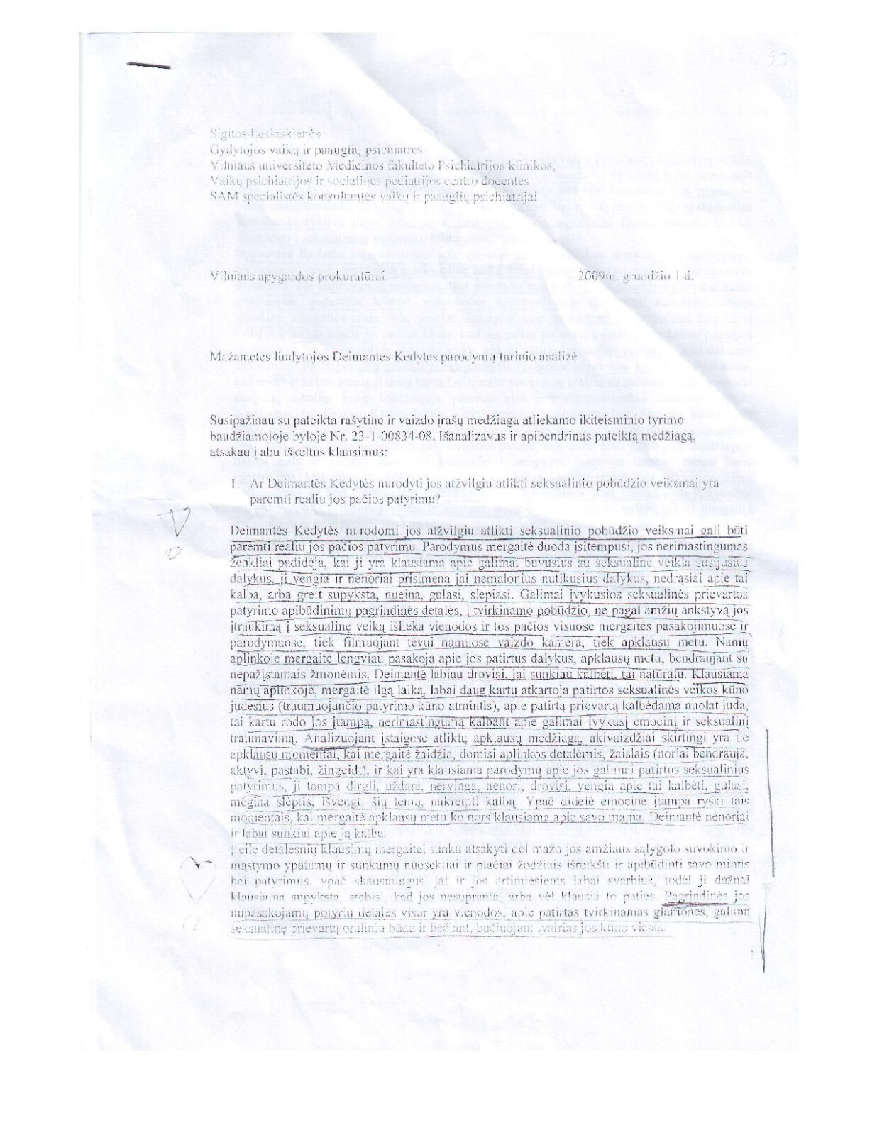 Nepakeičiama teisėsaugos liudininkė-žurnalistė A.Kuznecovaitė praneša naujas sensacijas apie pedofilijos bylą