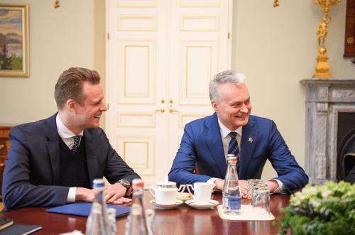 G.Landsbergis paskelbė, kad prezidentas G.Nausėda pasirinko jo partiją savo siekiams įgyvendinti