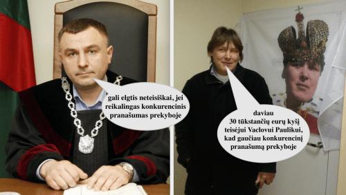 Teisėjo Vaclovo Pauliko viešas prisipažinimas dėl neteisiškai jo priimtų sprendimų…, ir toliau dirba teisėju