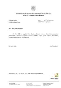 Prezidentas susipažino su masine korupcija Vilniaus apygardos ir apylinkės teismuose