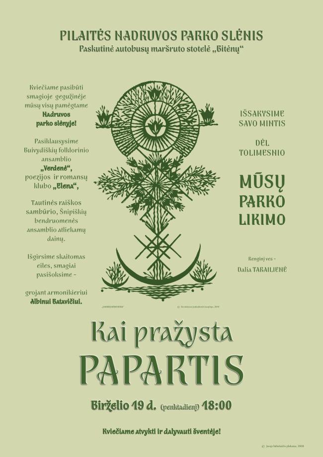 Parkas Vilniuje virs daugiabučiais