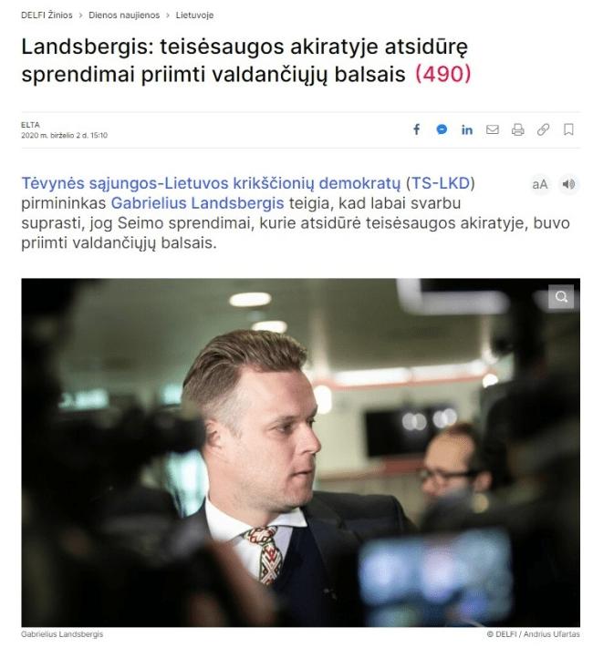 """Ramūnas Karbauskis : Konservatorių melo klasika ir """"geležinė logika"""""""