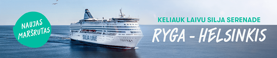 """""""Tallink"""" šią vasarą paleidžia naują reguliarų keltų maršrutą tarp Rygos ir Helsinkio"""