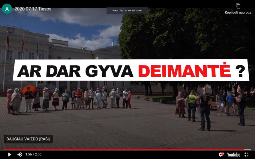 """To nebuvo net prie Grybauskaitės – policija uždraudė išskleisti plakatą """"Ar dar gyva Deimantė ?"""""""