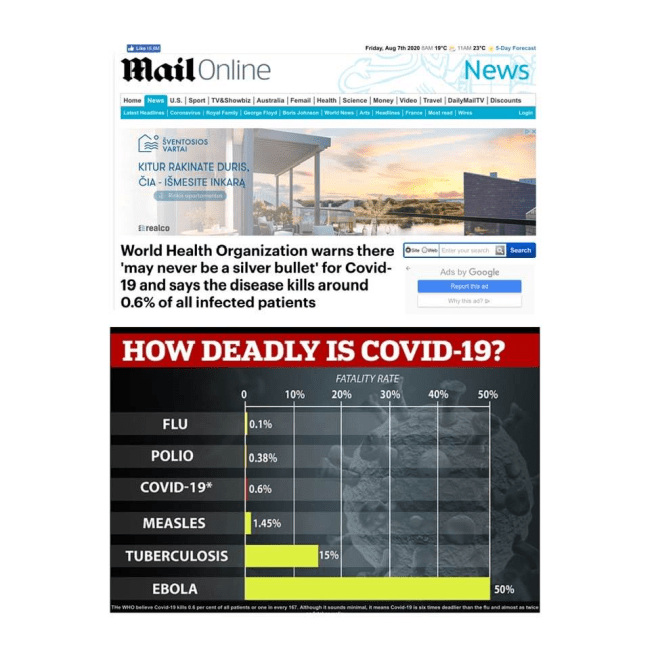PSO : korona nužudo tik 0,6 proc. susirgusių žmonių