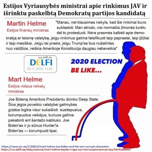 Rinkimai – suklastoti, Prezidento postas – pavogtas, Bidenų šeimynėlė – korumpuota iki ausų
