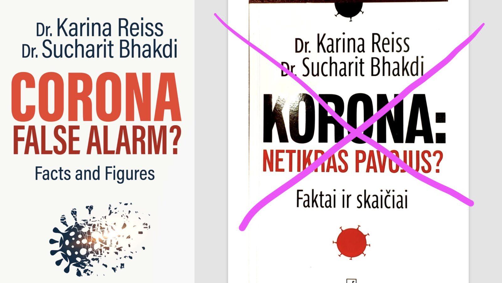 """Knyga """"Korona. Netikras pavojus?"""" prarado aktualumą, todėl nebeplatinama"""
