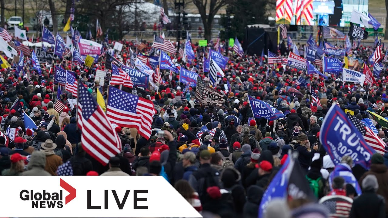 """Save America"" Rally: Pro-Trump protesters rally outside Capitol in Washington, DC 