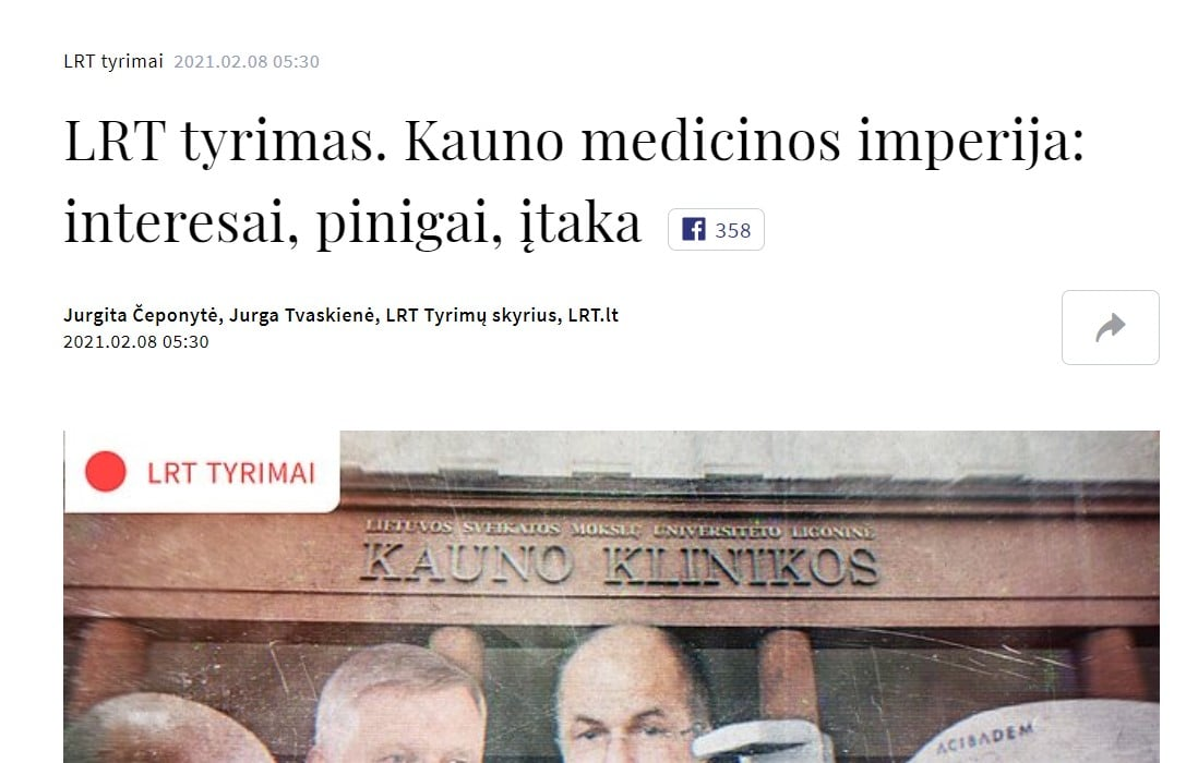 "Aurelijus Veryga : ""LRT tyrimas – eilinis marazmas"""