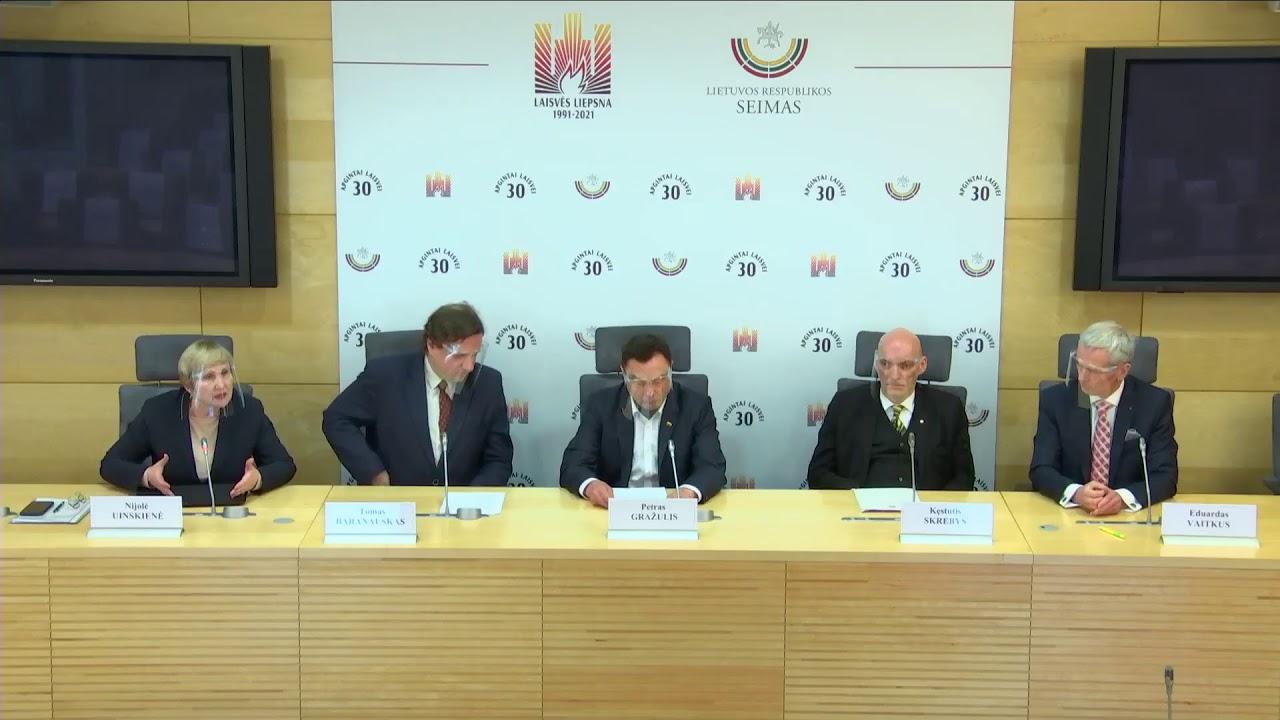 """2021-02-08 Seimo nario Petro Gražulio sp. konf. """"Suburta nevyriausybinė ekspertų komisija dėl pan..."""