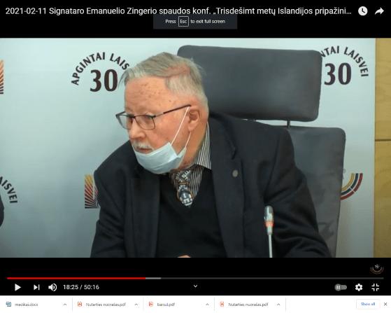 Policija net neieškojo po Seimą be kaukės slampinėjančio Vytauto Landsbergio