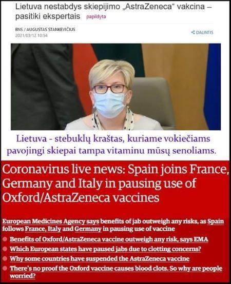 """Eduardas Vaitkus : """"Šimonytė pripažino, kad vakcinų KLAUSIMAS Lietuvoje yra POLITINIS , o ne tik MEDICININIS."""