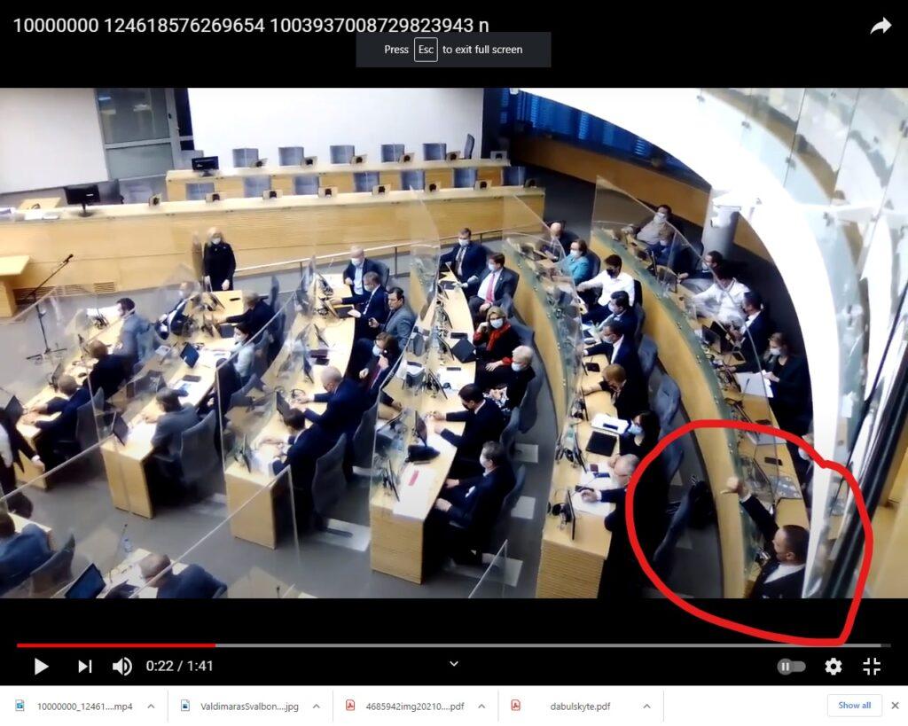Laisvą Seimo narių apsisprendimą kontroliuoja plaukuota ranka